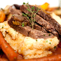 photo  of finished and ready to serve Beef Brisket & Root Vegetables recipe