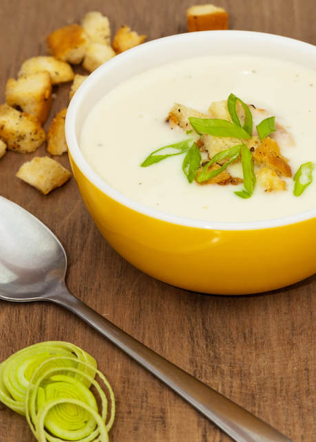 photo of finished Potato-Leek Bisque with Croutons recipe