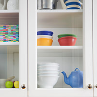 photo of a kitchen cabinet to represent the miscellaneous category for recipes