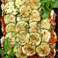 photo of finished Zucchini Lasagne